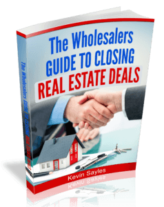 The Wholesalers Guide to Closing Real Estate Deals 3D Book Cover Image